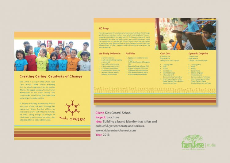 Kids Central School Brochure and New Identity