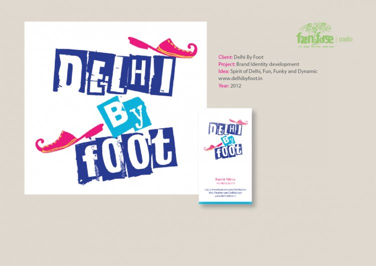 Delhi by Foot Brand Identity