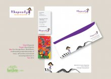 Rhapsody Education through Music Brand Identity